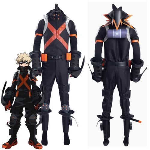 Boku No Hero Academia The Movie 3: World Heroes' Mission Katsuki Bakugou Halloween Carnival Suit Cosplay Costume