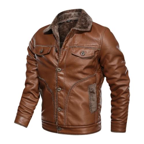 Men Fashion Plush Fleece Warm Jackets