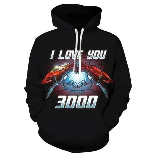 Tony Stark I Love You  Hoodie Men The Avengers Iron Man Moive Costume Sweatshirt   Coat Casual Tops
