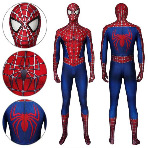 Spider-Man Peter Parker Spider-Man Tobey Maguire Jumpsuit Cosplay Costume -