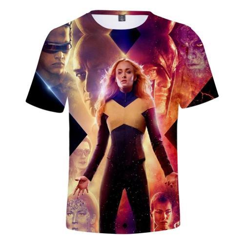 Cosplay Costume X-Men: Dark Phoenix T-Shirt Tops Men'S Women'S Jean Grey Shirts Tee For Adults Women Men Halloween Party