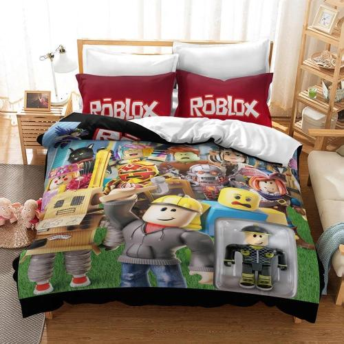 Game Roblox Cosplay Bedding Set Duvet Cover Pillowcases Halloween Home Decor