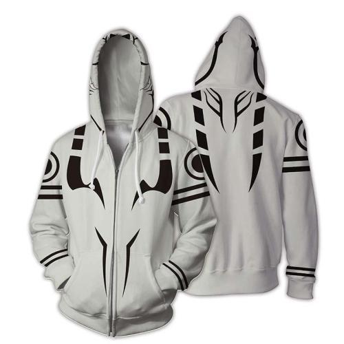 Jujutsu Kaisen Gojo Satoru Anime Black Stripes Unisex 3D Printed Hoodie Sweatshirt Jacket With Zipper