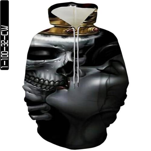 Skull Man Kiss Woman Movie Cosplay Unisex 3D Printed Hoodie Sweatshirt Pullover