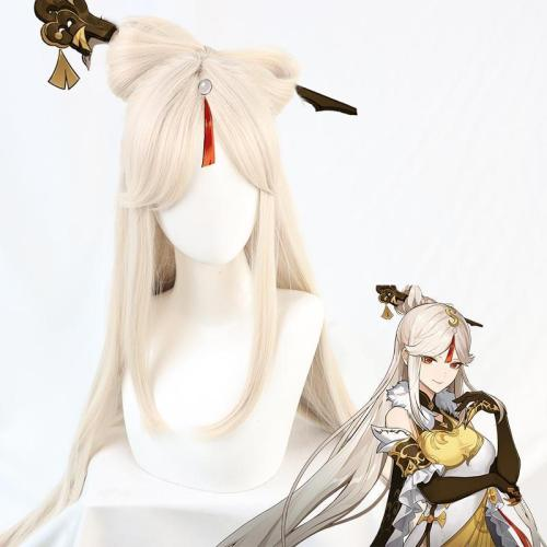 Genshin Impact Ningguang Golden Cosplay Wig