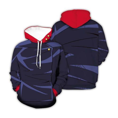 Jujutsu Kaisen Gojo Satoru Anime Red Hat Unisex 3D Printed Hoodie Sweatshirt Pullover