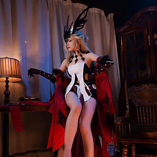Genshin Impact La Signora Halloween Cosplay Costume