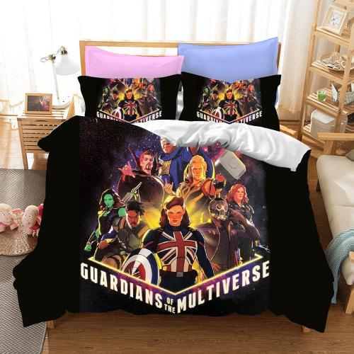 What If Cosplay Bedding Set Duvet Cover Pillowcases Halloween Home Decor