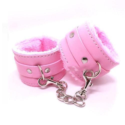 Pink Fur Lined Cuffs