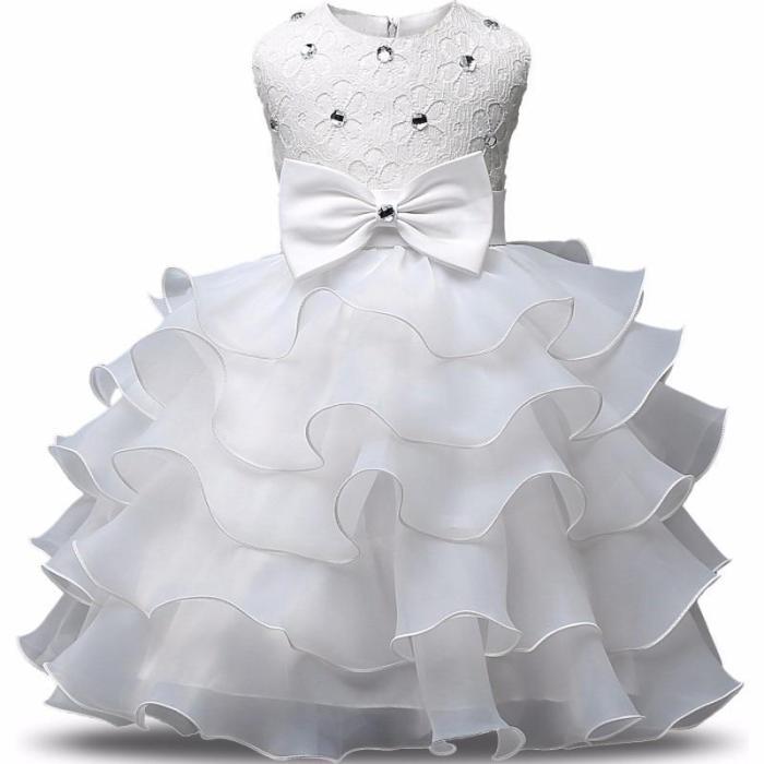 Born Girl Christening Baby First Birthday Party Dress Infant Baptism Costume Kids Dress