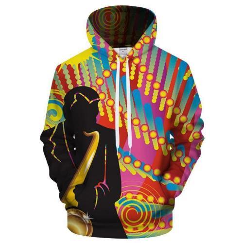 International Jazz Day Signature 3D Sweatshirt Hoodie Pullover