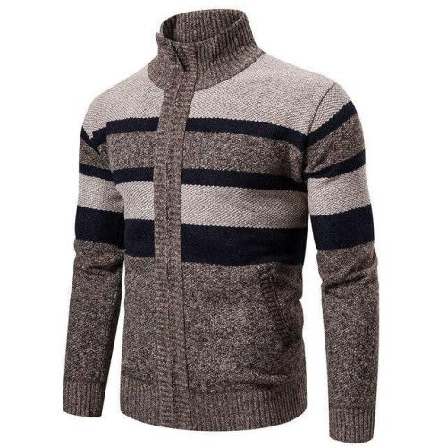 Men'S Business Cardigan Knitted Turtleneck Sweater