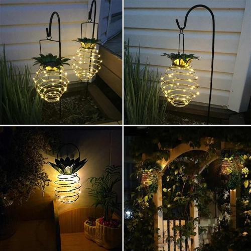 Solar Powered Led Pineapple Light