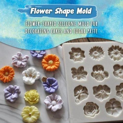 Flowers Shape Silicon Mold Cake Border