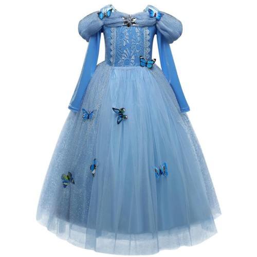 Kids Princess Cinderella Halloween Party Dress Up Cosplay Costume