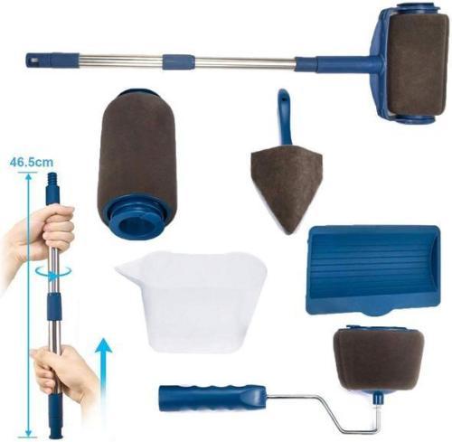 Multifunctional Paint Roller Brush Tools Set (8 Pcs)