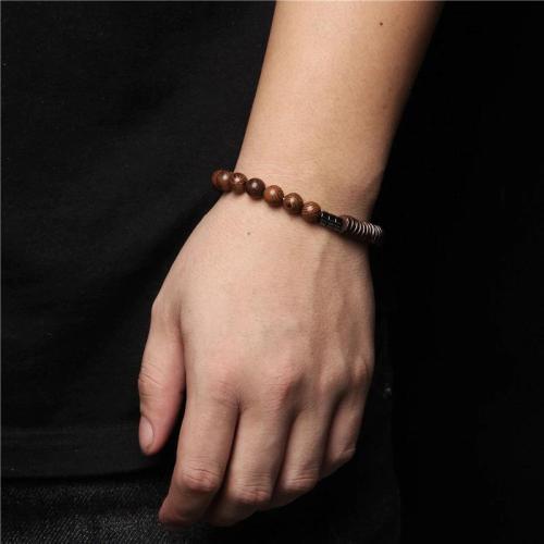 Natural Stone Beaded Charm Bracelet