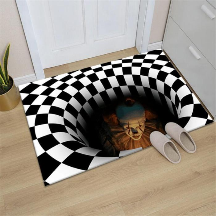 Clown Trap Visual Carpet Home Floor Mat Halloween Decorations Indoor