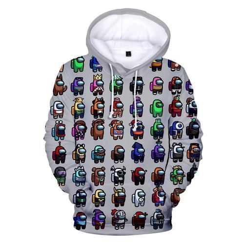 Adult Style-21 Impostor Crewmate Among Us Cartoon Game Unisex 3D Printed Hoodie Pullover Sweatshirt