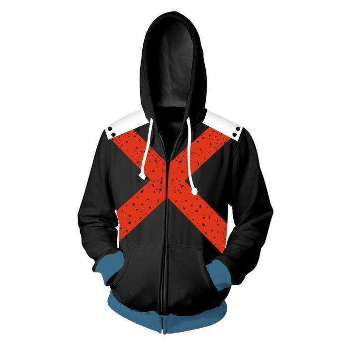 3D Harajuku Cartoon Hoodies Men Fashion Casual Anime Men Hoodie Cosplay Costume Streetwear Sweatshirt Zipper Top Jacket