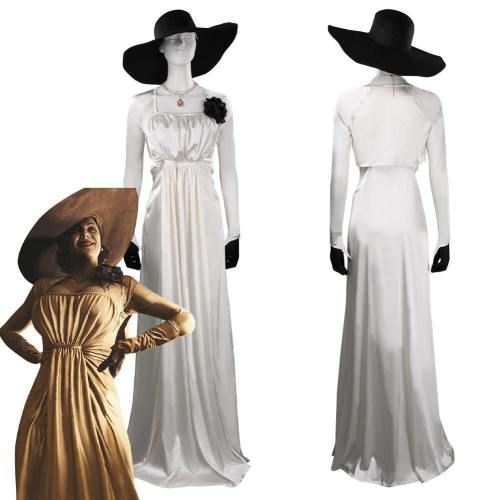 Resident Evil Village Alcina Dimitrescu Outfits Halloween Carnival Suit Cosplay Costume