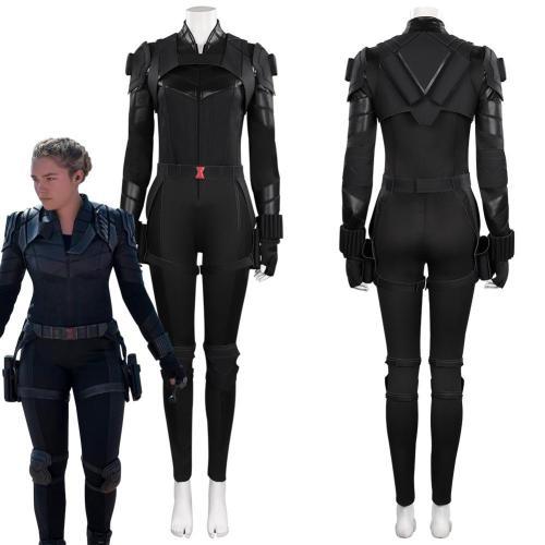 Black Widow Yelena Belova Jumpsuit Outfits Halloween Carnival Cosplay Costume