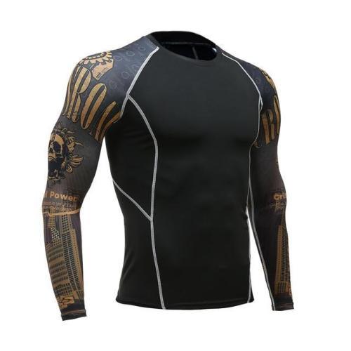 Breathable Long Sleeve Sports Rashgard Gym Cycling Clothing