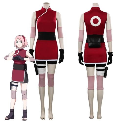 Naruto Haruno Sakura Outfits Halloween Carnival Suit Cosplay Costume