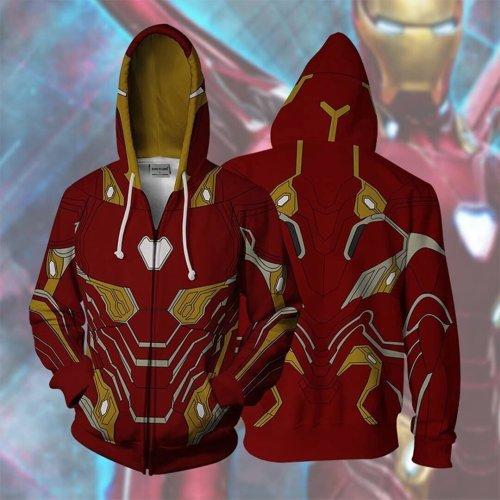 Avengers Movie Iron Man Style 6 Cosplay Unisex 3D Printed Hoodie Sweatshirt Jacket With Zipper