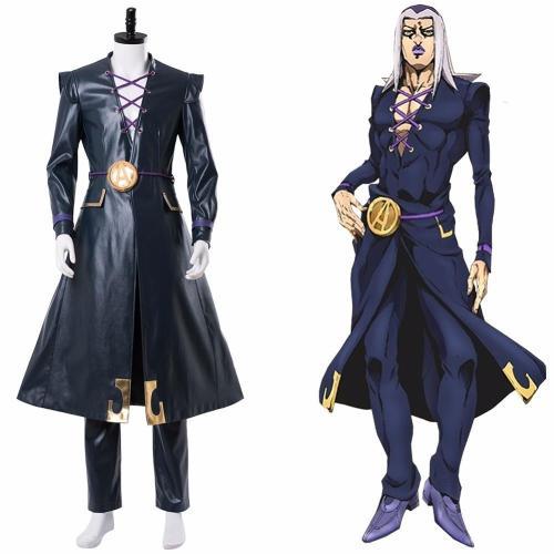Jojo'S Bizarre Adventure Cosplay Golden Wind Leone Abbacchio Cosplay Costume Uniform Halloween Carnival Costumes Customizable