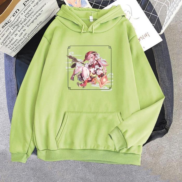 Genshin Impact Yanfei  Print Oversize Sweatshirt Harajuku Casual Unisex Hoodie