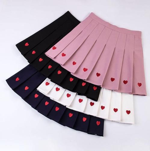 Heart Pleated Skirt Sd8