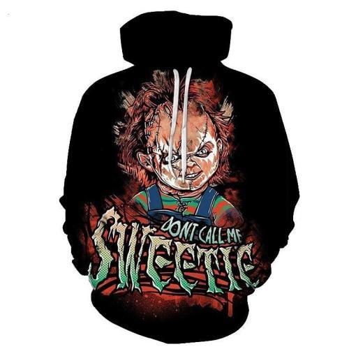 Child'S Play  Don'T Call Me Sweetie  Movie Unisex 3D Printed Hoodie Pullover Sweatshirt