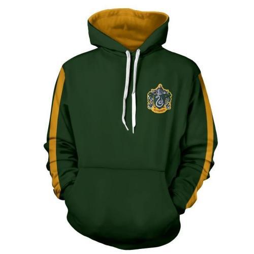 Green Harry Potter Series Movie Unisex 3D Printed Hoodie Pullover Sweatshirt