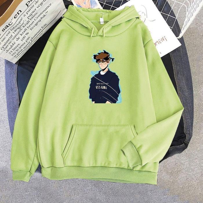 Quackity My Beloved Cartoon Aesthetic Cartoon Oversize Sweatshirt Harajuku Pullover Kpop Hoodie