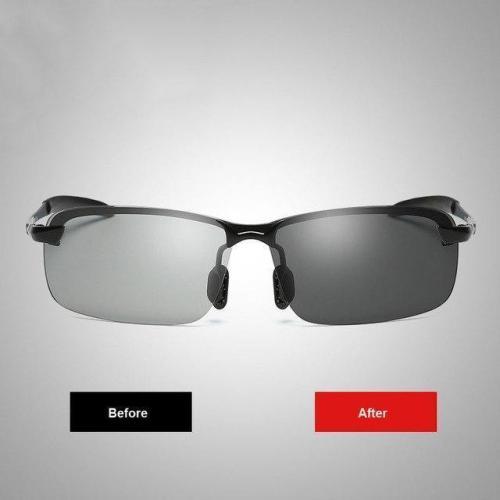 Men'S Pochromic Sunglasses With Polarized Lens