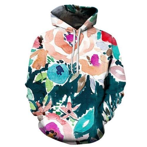 Vibrant Floral 3D - Sweatshirt, Hoodie, Pullover