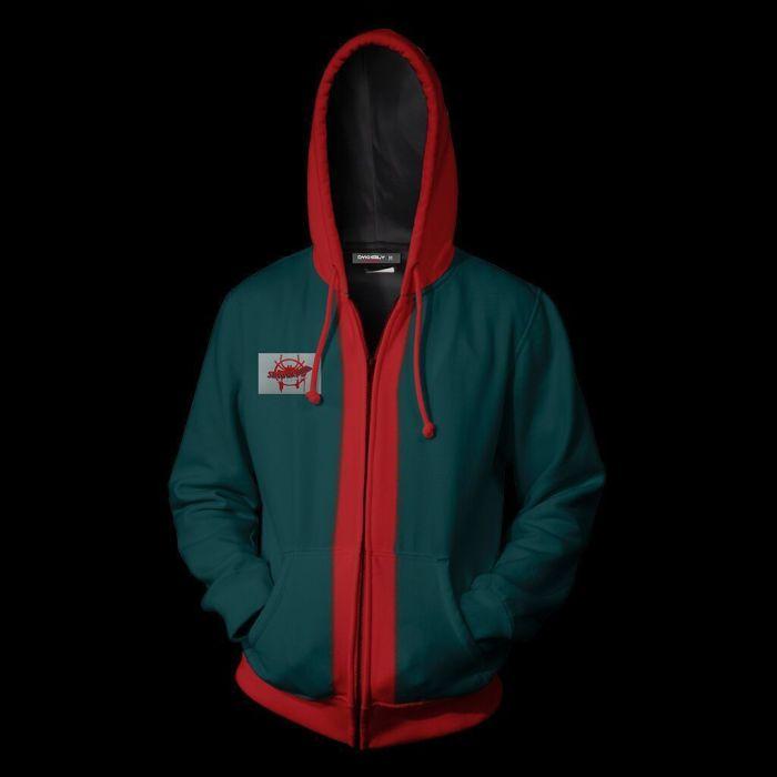 Spider-Man Movie Peter Parker Cosplay Unisex 3D Printed Hoodie Sweatshirt Jacket With Zipper