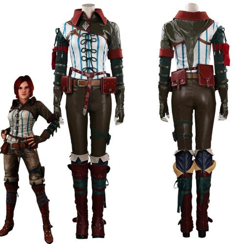 The Witcher Triss Merigold Outfits Halloween Carnival Suit Cosplay Costume