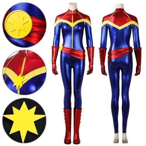 Carol Danvers Comic Version Cosplay Costume