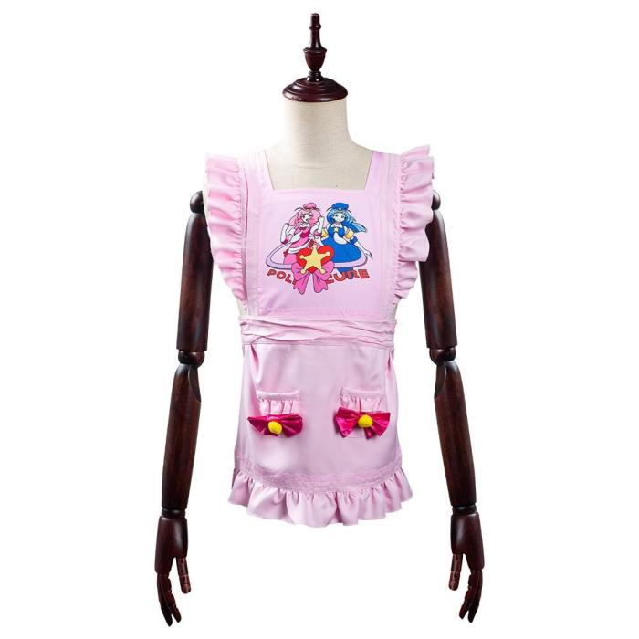 The Way Of The Household Husband Tatsu Pink Apron Halloween Carnival Suit Cosplay Costume