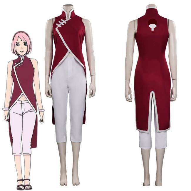 Boruto Next Generations Haruno Sakura Cosplay Costume Halloween Suit