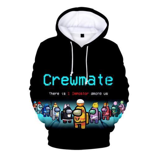 Adult Style-12 Impostor Crewmate Among Us Cartoon Game Unisex 3D Printed Hoodie Pullover Sweatshirt