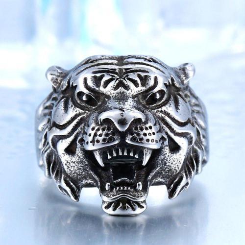 Tiger Fury Steel Ring