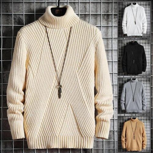 Fall Winter Mens Turtleneck Sweater