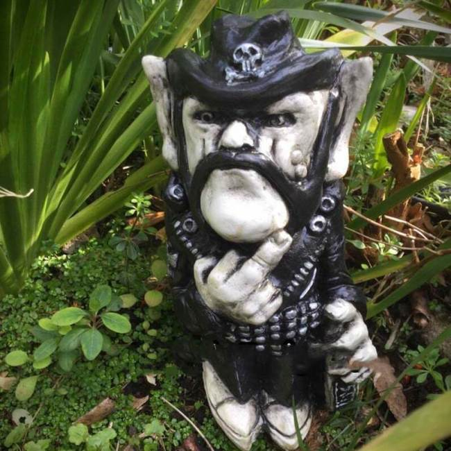 Lemmy Rock Icon Sculpture The Leprechaun Resin Statue Yard Decor