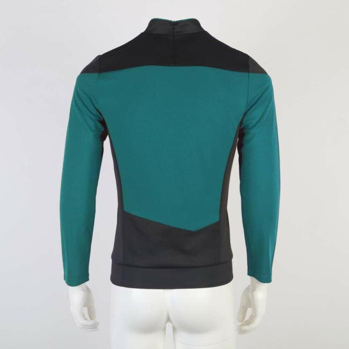 Star Trek The Next Generation  Tng Picard Cosplay Uniform Top Shirt