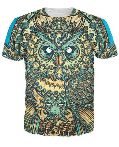Edm Style Owl T-Shirt