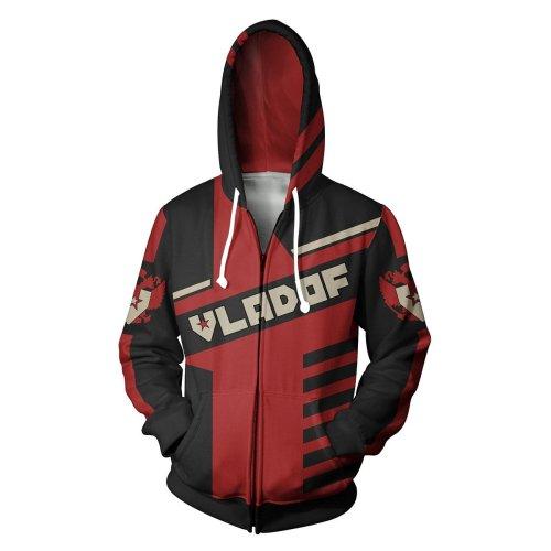 Borderlands Red Vladof Game Unisex 3D Printed Hoodie Sweatshirt Jacket With Zipper
