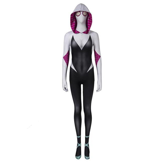 Spider-Man: Into The Spider-Verse Gwen Stacy Jumpsuit Halloween Carnival Suit Cosplay Costume